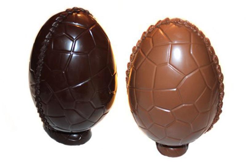 påske chokolade æg lys og mørk