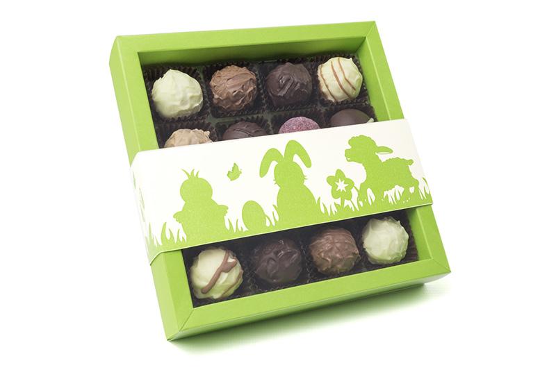 Grøn påske chokoladeæske